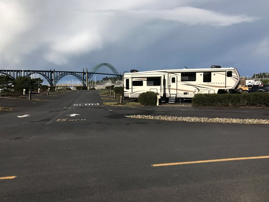 Port of Newport RV Park : View of first two roads inside Park (Facing West)