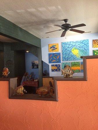 The Painted Fish Cafe : Namesake art work