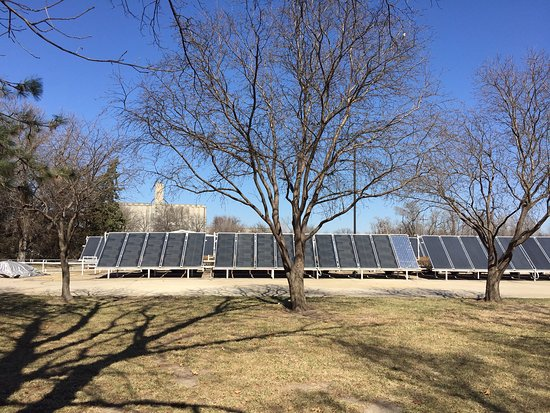 Abilene, KS: Solar panels supplying hot water to the museum.