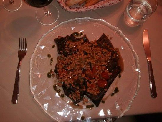 Cigliano, Italie : Lasagnette al ragù di coniglio con pomodorini
