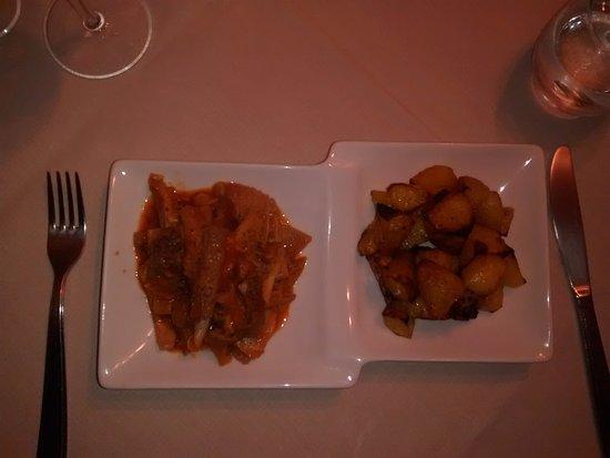 Cigliano, Italie : Trippa con patate al forno