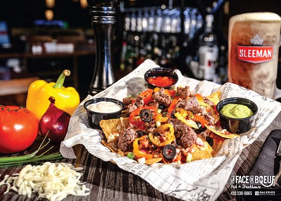 Thetford Mines, Canadá: Le généreux nachos face de boeuf