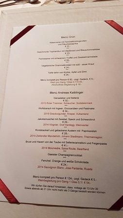 speisekarte - bild von restaurant esszimmer, salzburg - tripadvisor, Esszimmer dekoo