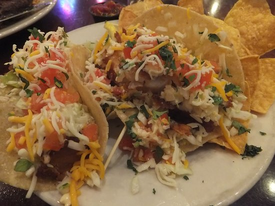 Cod fish tacos picture of dam bar grille page for Fish tacos cod