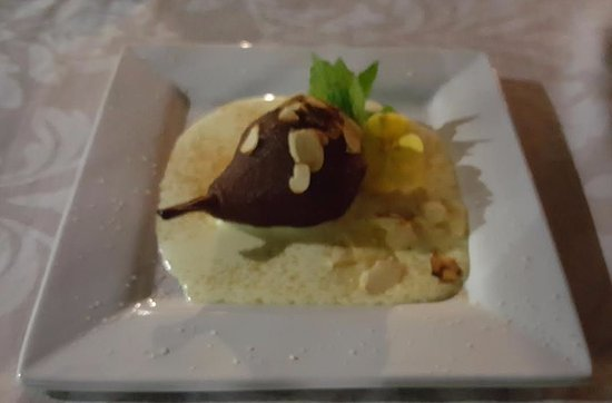 Plumbago Guest House: Poached pear...Delicious!