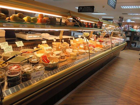 Bankfoot, UK: cheese counter