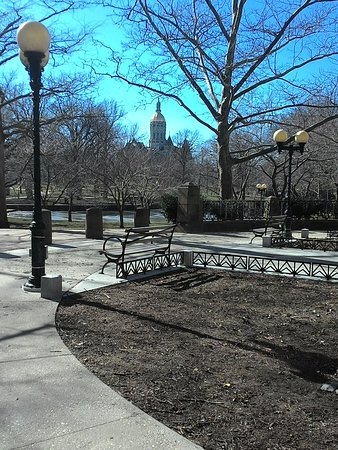 Bushnell Park: view of park with state capitol in the background