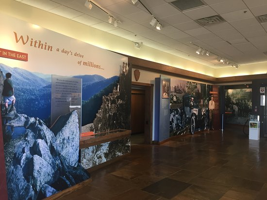 Harry F. Byrd Sr. Visitor Center: signage at the entrance of the exhibit