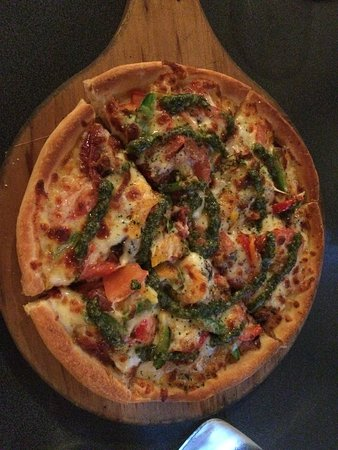 Timaru, New Zealand: Cool unique pizzas on the menu