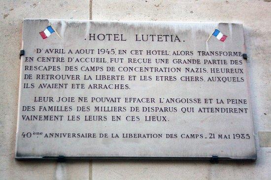 Hôtel Lutetia: Área externa do hotel.