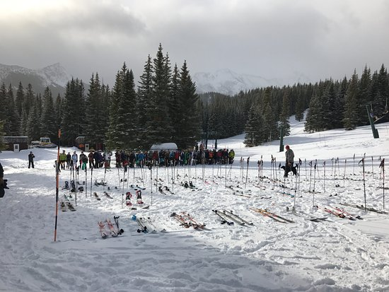 Choteau, MT: The start of the pro Skimo race.