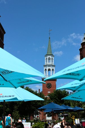 Many outdoor dining opportunities line Church Street Marketplace