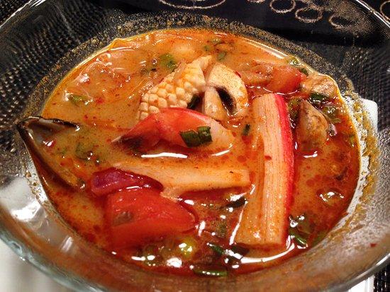 Lion Thai: Tom Yum Seafood $8.50