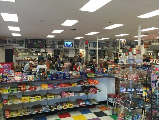 Big State Fountain Grill: Fun retro candies to shop for.