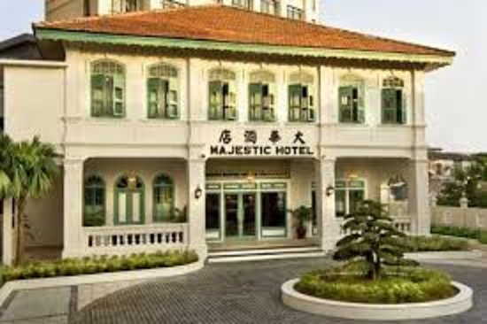 The Majestic Malacca: The exterior of the 1920's mansion.