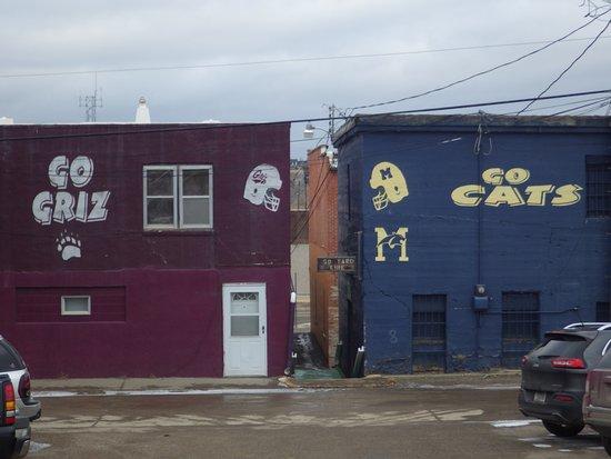 Shelby, MT: Friendly rivalry between MSU & U of M.
