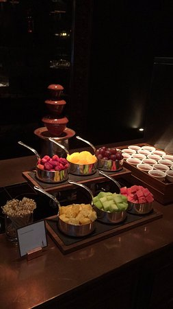 Chocolate fountain and souffles