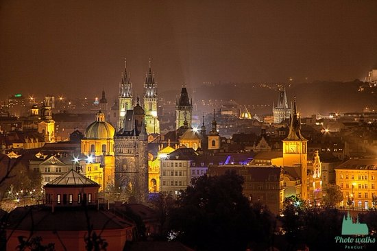 Photograph of Old Town in Prague at nights