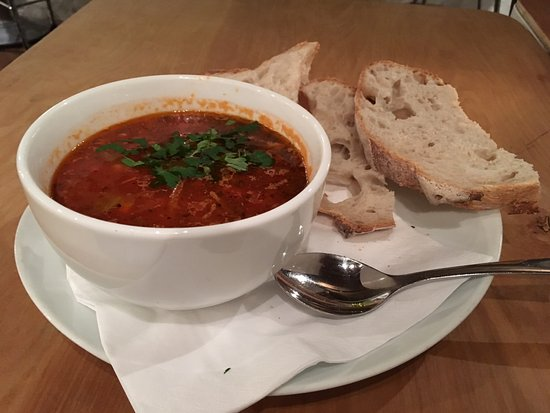 Sivertsens cafe: soup and bread I had