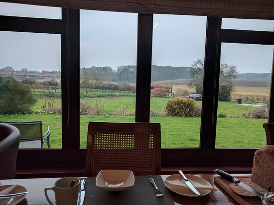 Millstream House B&B: View from the dining area to the front garden and beyond
