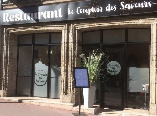 Le comptoir des saveurs le puy en velay restaurant avis for Restaurant exterieur