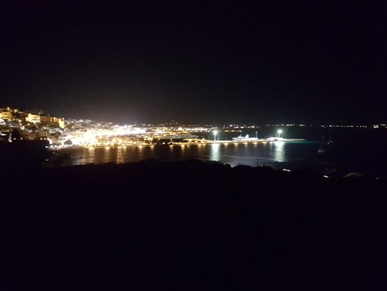 Πορτάρα: Chora di Naxos dalla Portara by night