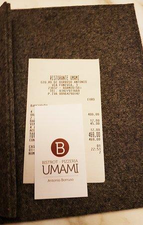 Restaurant Umami : Ci aspettavamo meraviglie ma siamo rimasti profondamente delusi...