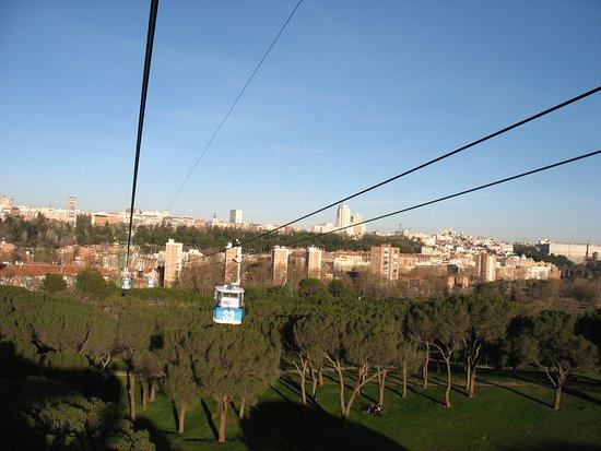 Teleferico: Vue sur Madrid