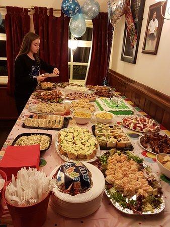 Galgate, UK: Birthday buffet New Inn