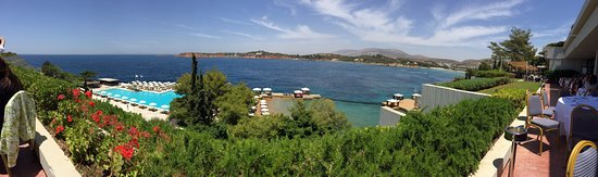 The Westin Athens Astir Palace Beach Resort: Panoramic view from the hotel's restaurant terrace...