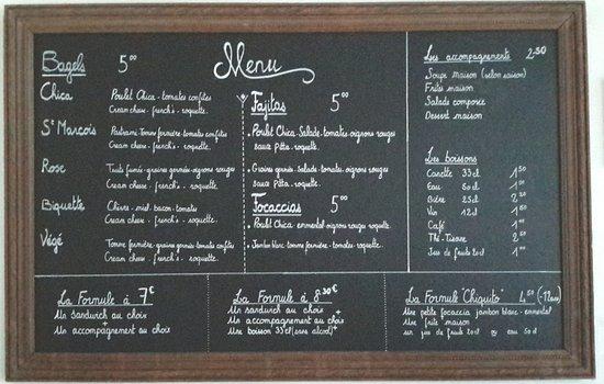 Saint-Nazaire-en-Royans, France: Le menu