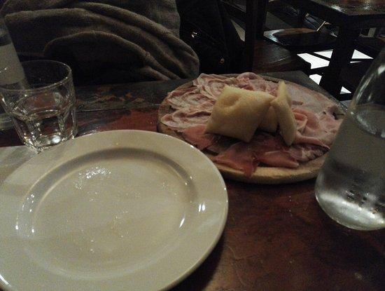 Spino d'Adda, Italia: gnocco con salumi