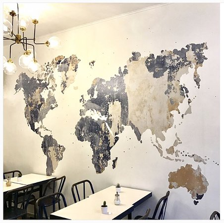 World map design ! - Picture of Oni Coffee Shop, Paris - TripAdvisor