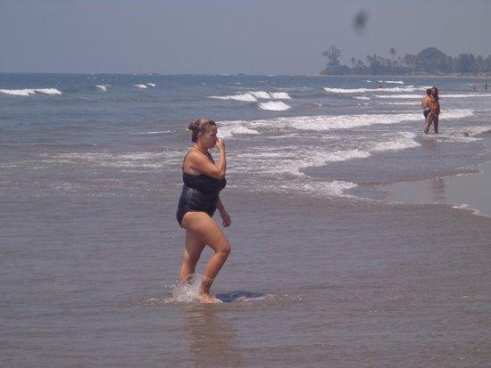 A Tourist At Morjim Beach Goa