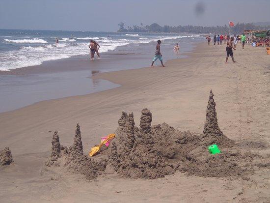 At Lovely Morjim Beach Goa