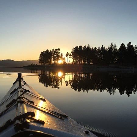 Bigfork, MT: Kayaking on Flathead Lake