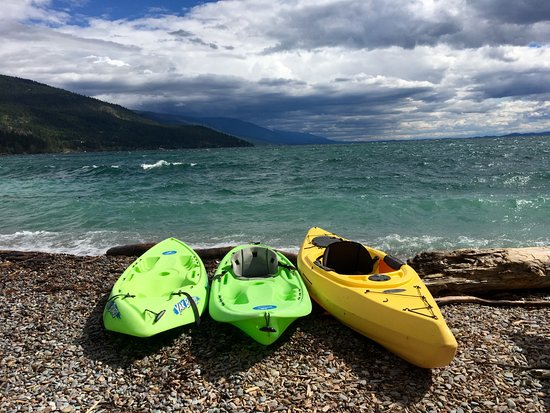 Bigfork, MT: Kayak and Canoe rentals on our private beach on Flathead Lake