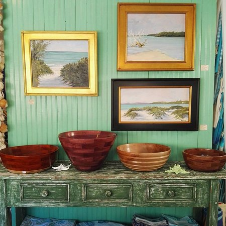 Dunmore Town, Harbour Island: Paintings by Emily Buchanan, Bowls by Skip Miller