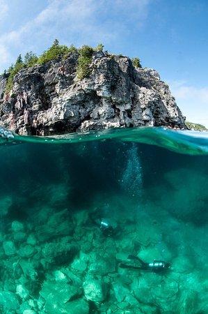 Tiny, Canada: Cavern diving on Georgian Bay, AKA the grotto