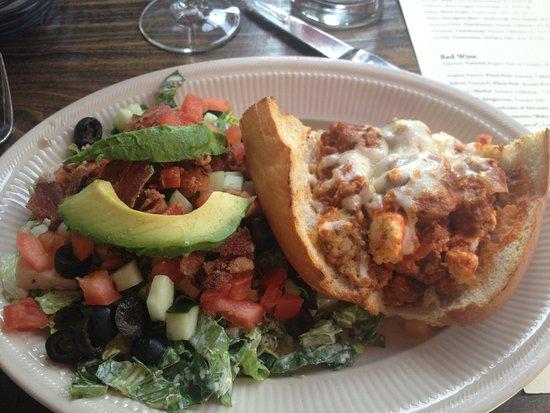 Gaetano's Restaurant: Half Salad & Half Sandwich (CA Salad & Meatball Sandwich)
