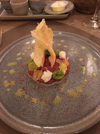 Limbourg, Belgique : Steak tartare appetizer