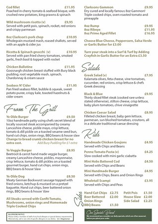 Bamber Bridge, UK: New main menu