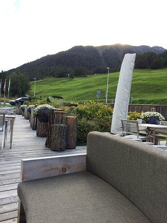 Brail, Ελβετία: Gartenterrasse