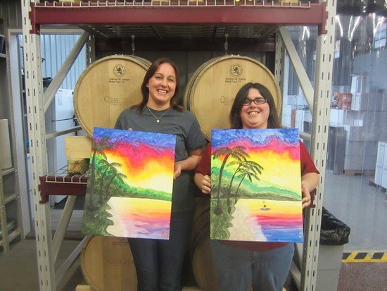 Bloomington, IN: Our latest paint at Martinsville Winery