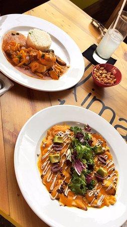 Lima 12 05 Peruvian Cuisine & Steak House: Pescado a lo Macho y Tiraditos de Pulpo