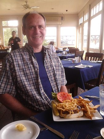 Havre de Grace, MD: My My Hubby LOVED his Western Bar-B-Q Burger with Fresh Cut Fries!