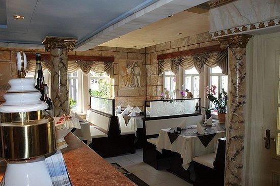 Bad Sachsa, Jerman: Das Restaurant wurde kürzlich neu gestaltet