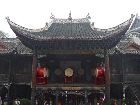 Fenghuang County, China: Plate-forme surélevée pour les spectacles de musique