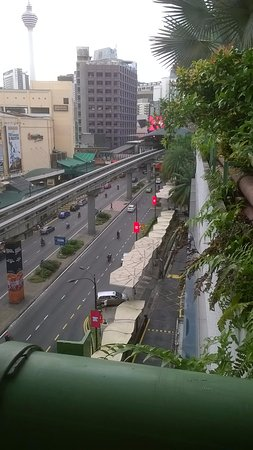 PARKROYAL Kuala Lumpur: from pool area in s9ght of train station