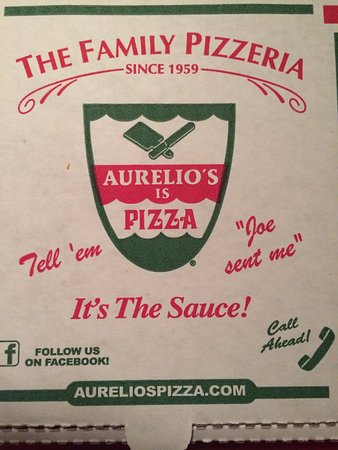 Homewood, IL: Aurelio's Pizza Box